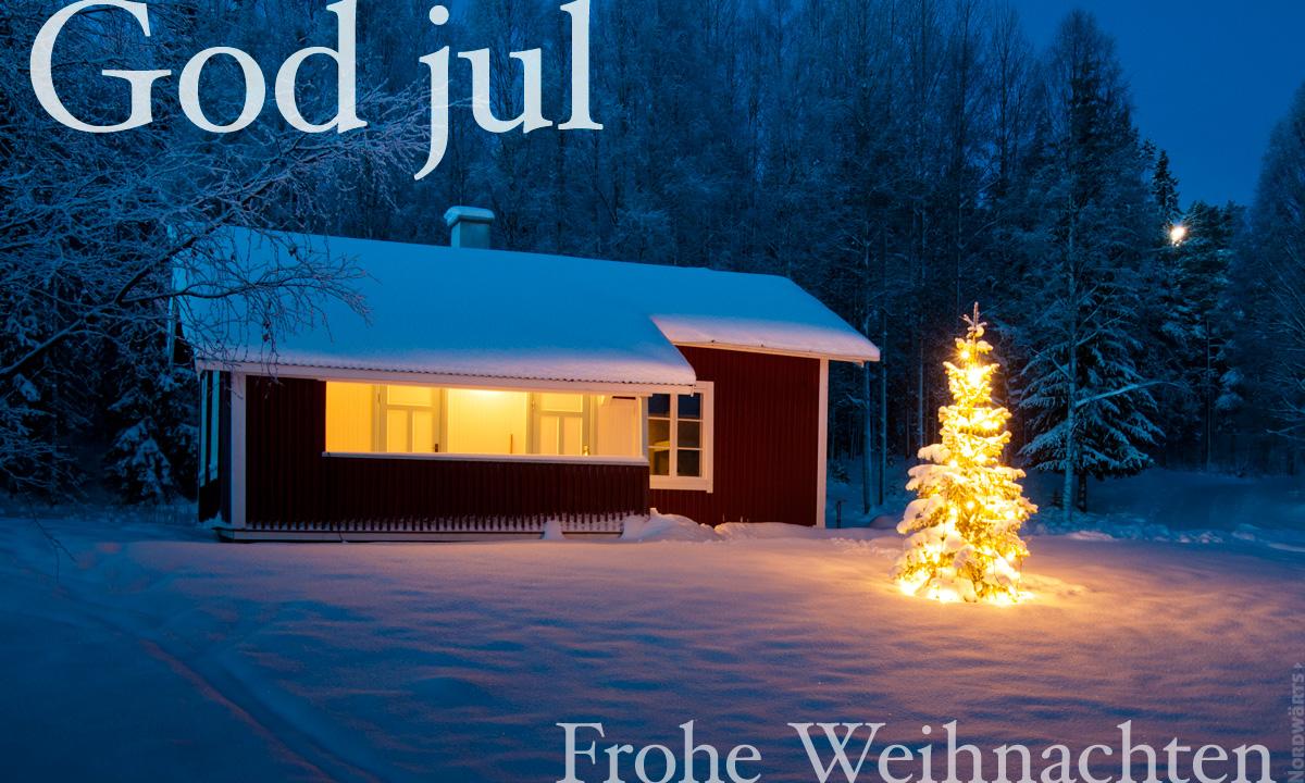 Frohe Weihnachten Norwegisch.God Jul Nordwärts