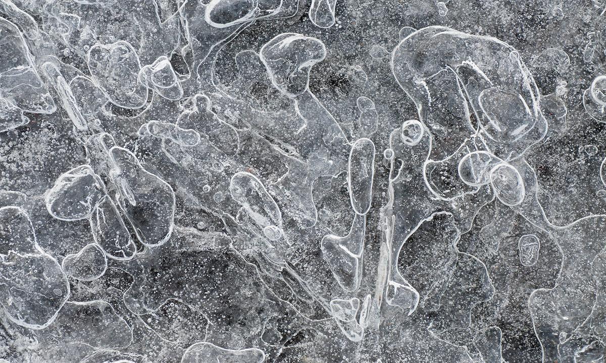 Eisstruktur am Ostseeufer