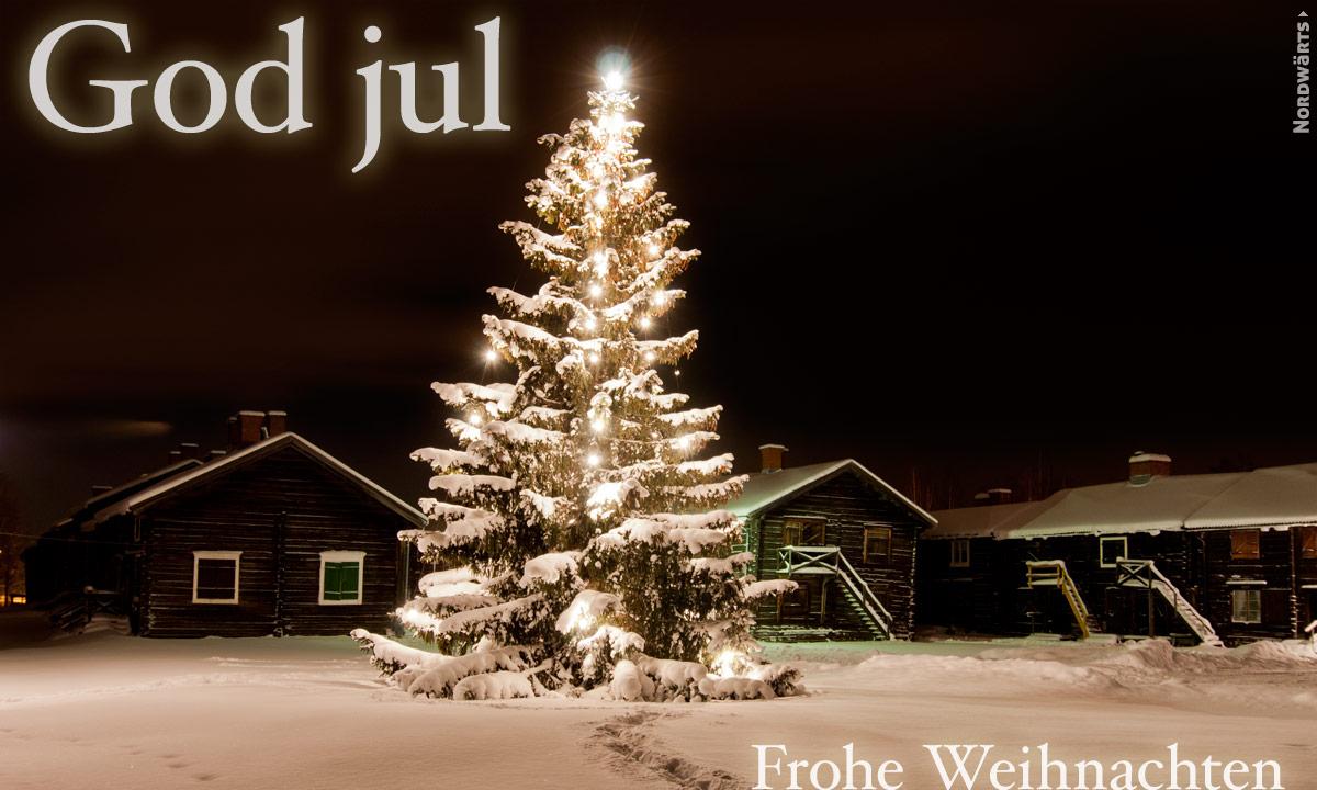 Frohe Weihnachten Schwedisch.Norwegisch Frohe Weihnachten
