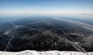 Blankes Eis auf der Ostsee