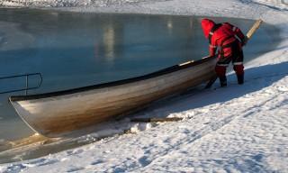 Boot auf dem Eis