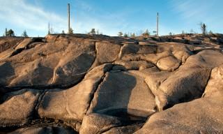 Gestern vor einem Jahr: Die Felsen sind schneefrei