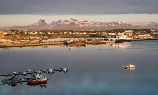 Blick auf Bodø