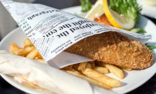 Fish und Chips in der Sonne