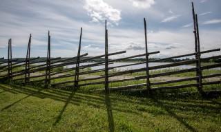 Ein typisch schwedischer Zaun