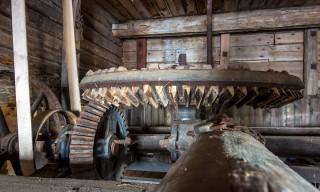 Holzgetriebe in der alten Wassermühle