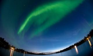Fischauge: Das Polarlicht ist fast über mir