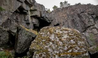 Steile Abbruchkante