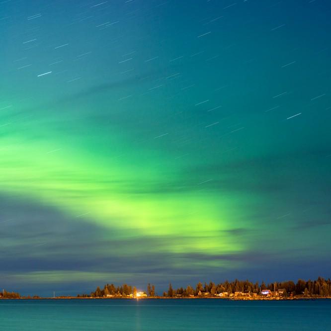Polarlicht über der Ostsee