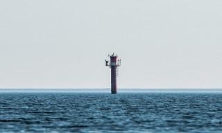 Ein Seezeichen –ziemlich weit weg