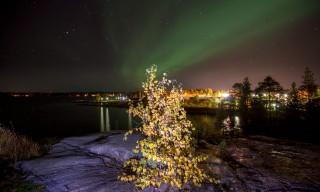 Polarlicht über Skelleftehamn