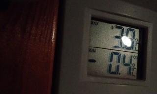 Minimum: -0.4 °C