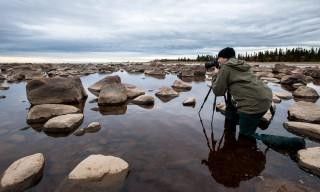 Ich beim Fotografien (Foto: Jochen Oetinger)