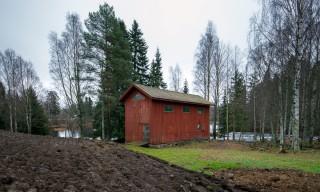 Rote Scheune bei Åbacka