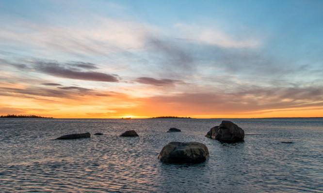 Sonnenaufgang bei Gåsören