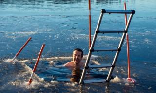 Eisbad –herrlich! (Foto: Tony Mäki)