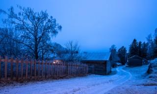 Weg durch das Dorf Gallejaur