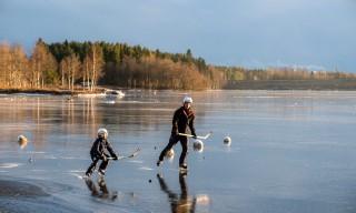 Eishockey auf dem Fluss