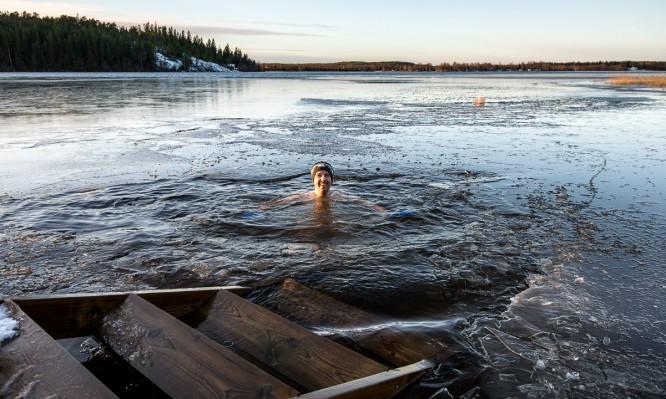 Mein erstes Winterbad der Saison
