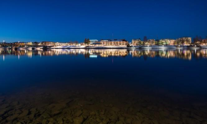Skellefteå bei Nacht