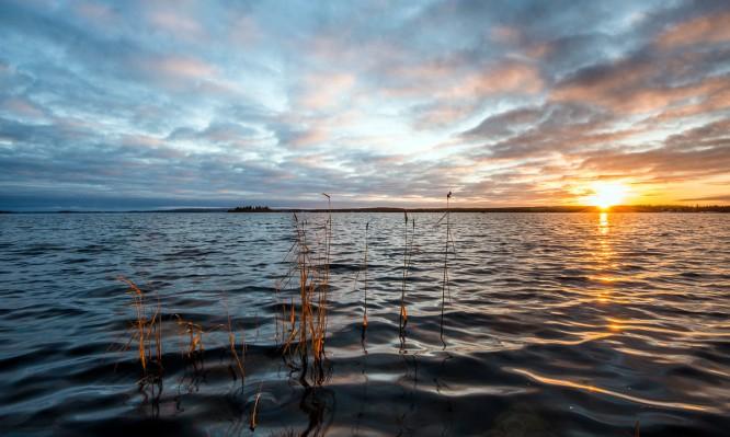 Gestern: Sonnenuntergang am Sörfjärden