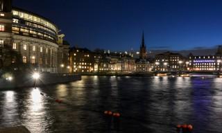Stockholm in der Abenddämmerung