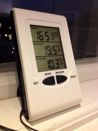 Heute nachmittag: 10.3 °C