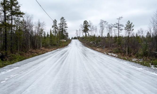 Der Weg nach Storgrundet –eine Eispiste