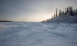 Meine Pulkaspur hinter der Insel Bredskär