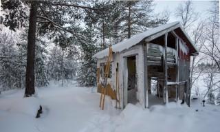 Genau am richtigen Platz: Hütte zum Objektiv wechseln