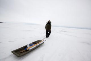 Sampo auf dem Weg zum Fisch