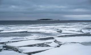 Eisschollen auf der Ostsee