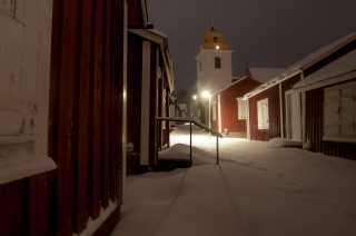Gammelstad mit Kirchenblick