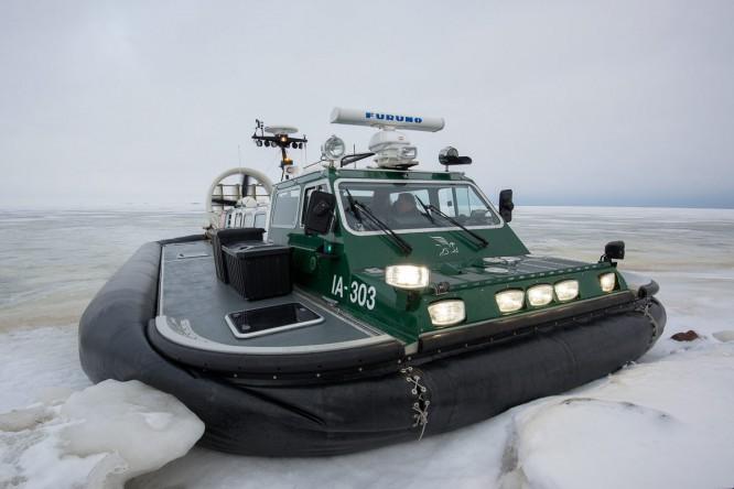 Das Luftkissenfahrzeug der Küstenwache