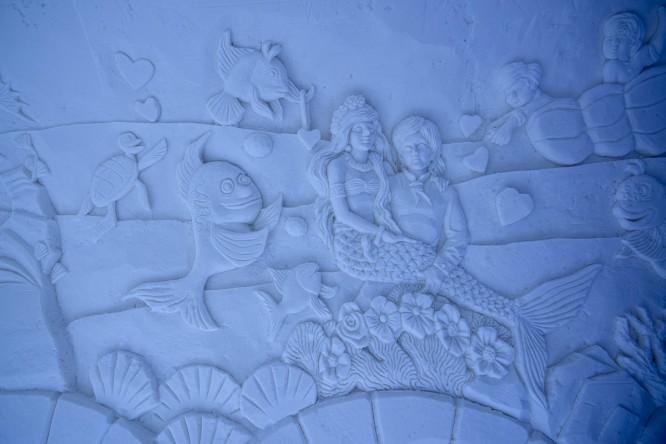 Schneerelief