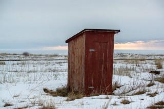 Eine Außentoilette?