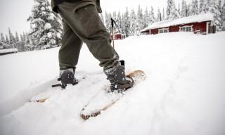 Wege fest trampeln –der Schnee ist metertief