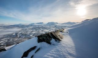 Blick von einem Plateau unterhalb des Šloahtta