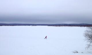 Langlauf auf dem Ounasjki
