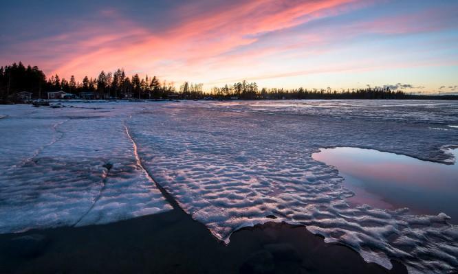 Schwaches Eis bei Storgrundet