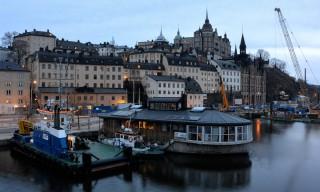 Blick zurück auf Södermalm