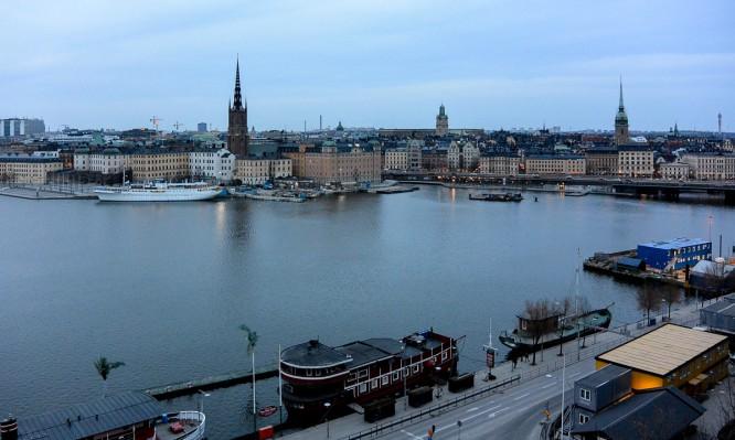Blick von Södermalm über Stockholm