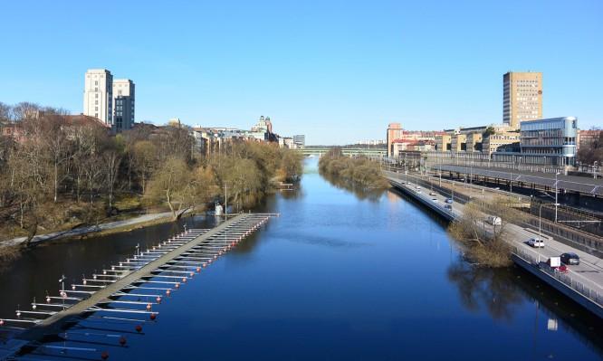 Ein klarer Aprilmorgen in Stockholm