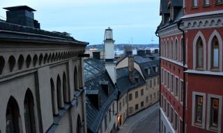 Blick auf Södermalms Hausfassaden