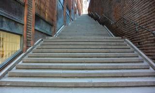 In Stockholm gibt es viele, viele Treppen