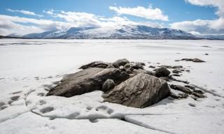 Fels, Eis, See und Berg