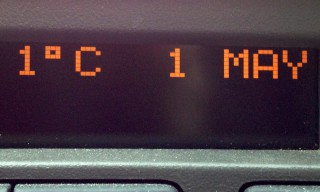 Nur noch 1 °C