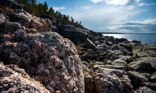 Granitfelsen im Gegenlicht