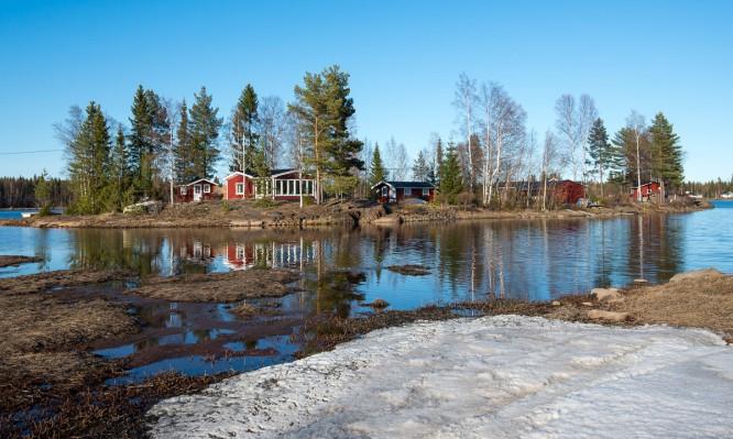 Insel im Norrfjärden