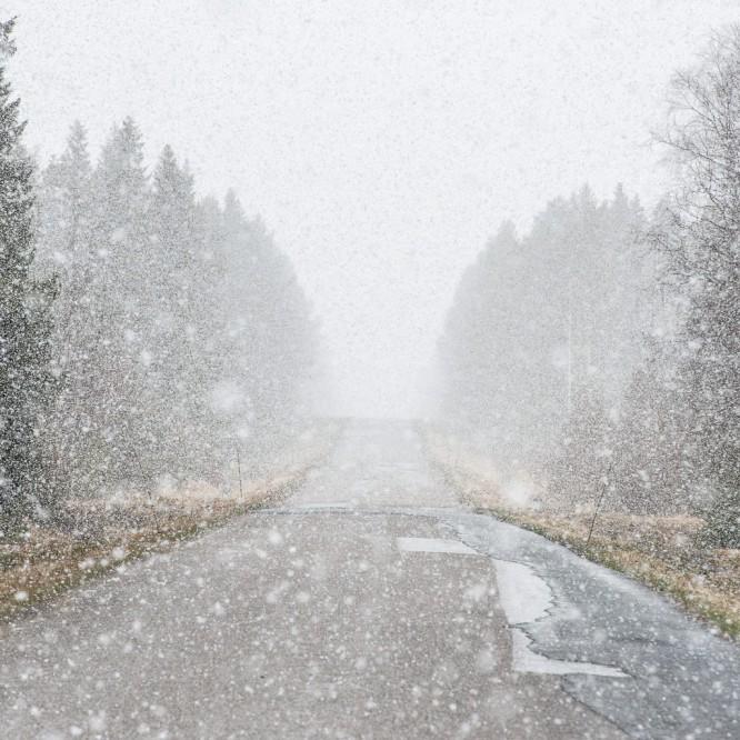 Starker Schneeschauer